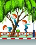 Kinderparkour Hüpfen